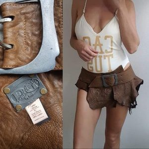Addore Anat Marin leather Couture skirt belt s/m
